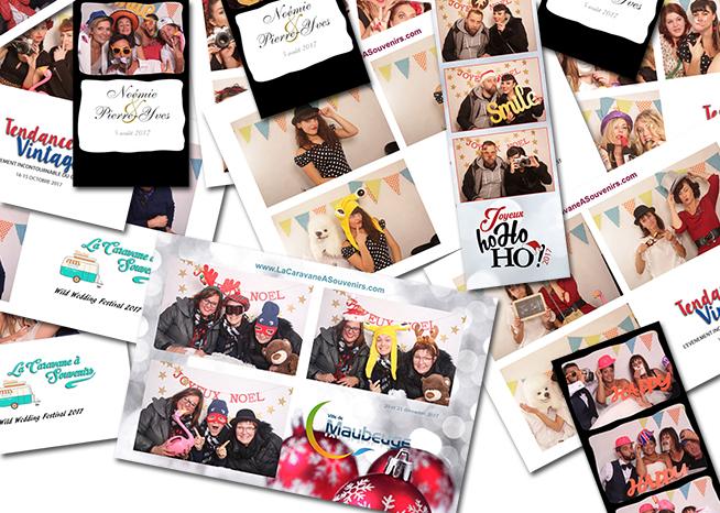 Exemples de tirages lors de nos photobooth